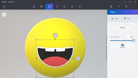 paint 3d help use stickers in paint 3d