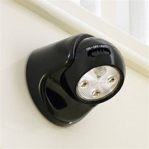 battery led security light battery operated pir security light