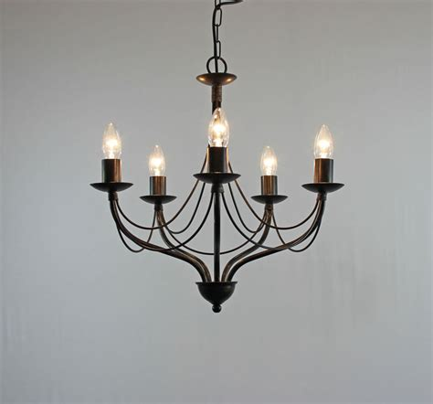 Iron Candle Chandelier The Yarwell 5 Arm Wrought Iron Wrought Iron Candle
