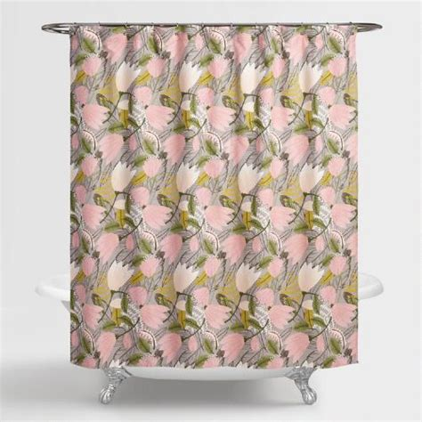 gigi shower curtain gigi floral shower curtain world market
