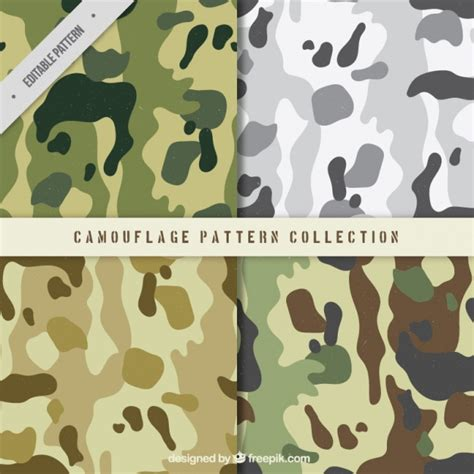 army pattern free vector pack of four military patterns vector free download