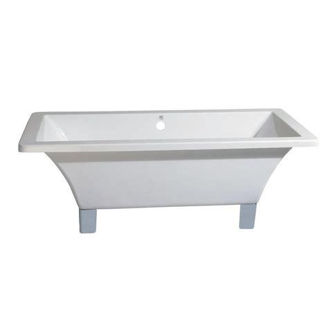 dual bathtub aqua eden modern 5 6 ft acrylic dual ended clawfoot non