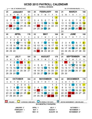 ucsd calendar  fill  printable fillable blank pdffiller