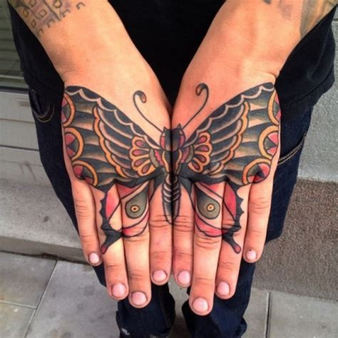 butterfly hand tattoos best 66 tattoos
