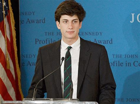 jfk grandson jfk grandson jack schlossberg at profiles in courage award