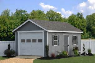 prefab one car garage sheds traditional shed