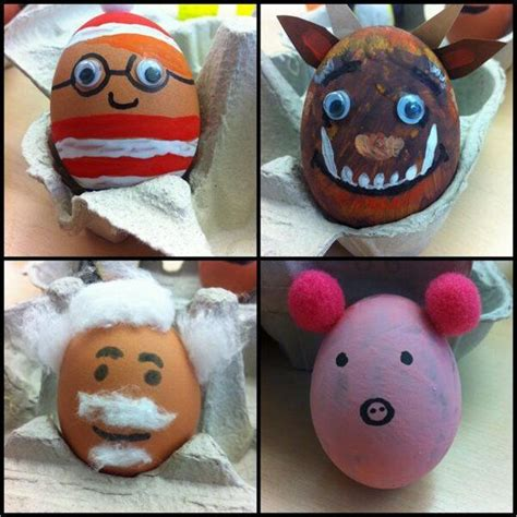 decorated eggs characters the book people decorated eggs as famous book characters