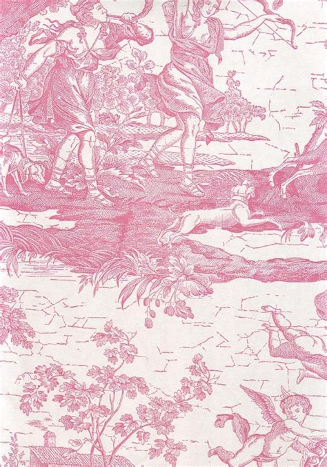 pink toile wallpaper gallery