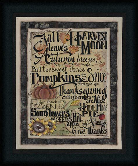 Wall Decor L Printed Poster L Poster Kayu L Mini Poster For 24 fall words 20x16 autumn decor primitive sign framed print picture wall decor ebay