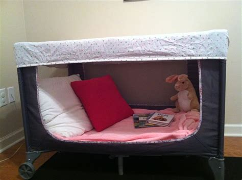 pack and play bed repurposed pack n play into a book nook for a little one awesome idea stuff baby