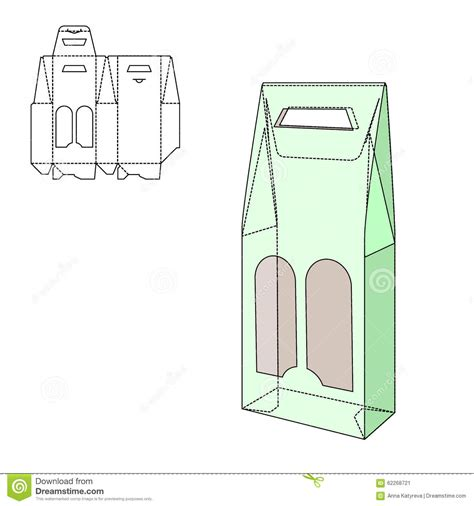 package design layout vector fold package stock vector image 62268721