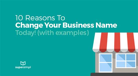 Reasons To Call Your Today by 10 Reasons To Change Your Business Name Today