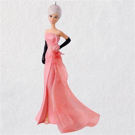 keepsake club glam gown barbie ornament hooked  hallmark ornaments