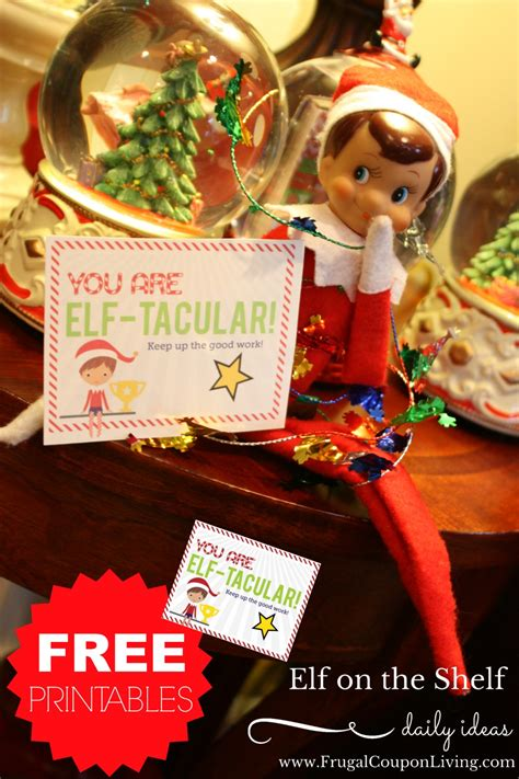 elf on the shelf ideas 2015 printable elf on the shelf ideas free elf tacular note