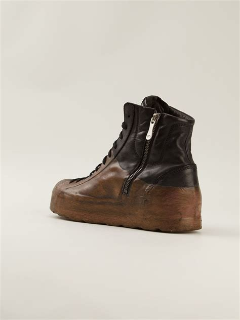 oxs sneakers oxs rubber soul dipped high top sneakers in brown for