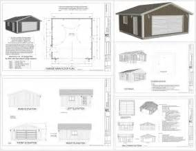 g518 24 x 24 x 8 garage plans spec sheet sds plans