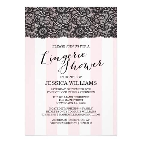 lace lingerie shower invitation 5 quot x 7 quot invitation card