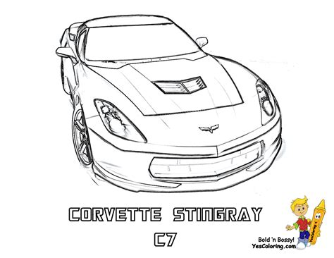 Corvette Coloring Page gusto car coloring pages porsche corvette free coloring cars