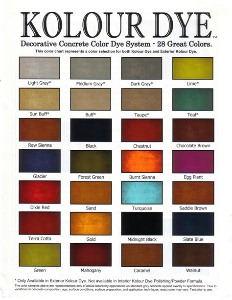home depot concrete stain color chart floor home depot
