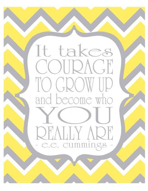 chevron pattern quotes yellow and gray wall art typography print it by