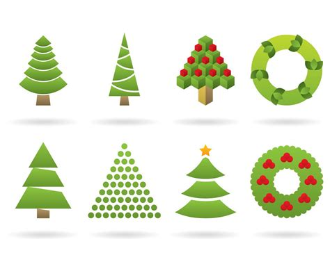 christmas tree logos vector art graphics freevector com