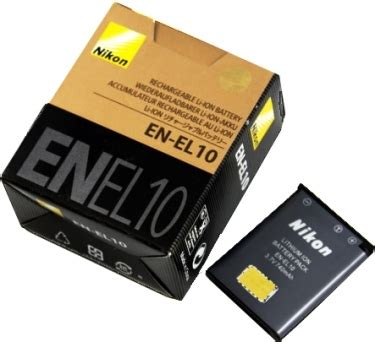 Nikon Battery En El10 740mah nikon enel10 en el10 battery for coolpix s200 s500
