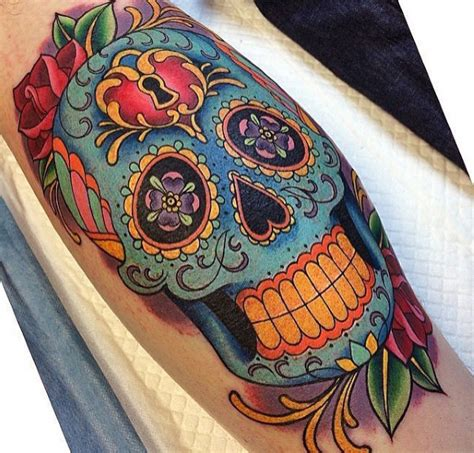 day of the dead skull tattoos for men 50 sugar skull ideas for