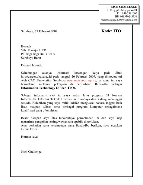 contoh surat lamaran kerja format email contoh surat lamaran kerja pdf ben jobs