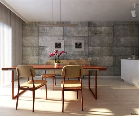 Dining Room Wall by Utilitarian Dining Room Wall Interior Design Ideas