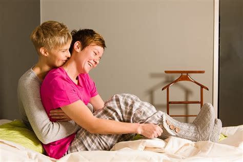 lesbian bed lgbtq couples who proposes weddingbee