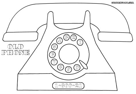 old phone coloring page coloring coloring pages