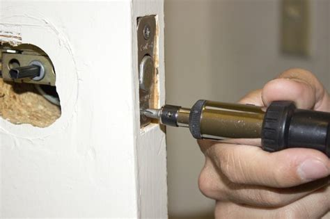 Removing Door Knob With Screws by How To Remove A Deadbolt Lock Without Screws With