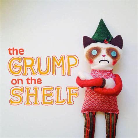 On A Shelf Plush by Grumpy On A Shelf 2 Cat Plush By