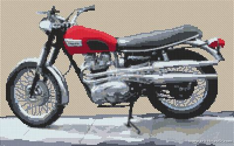 Harley Davidson 2272 Crono On 5cm A5 triumph speed motorcycle cross stitch kit and chart stitchtastic