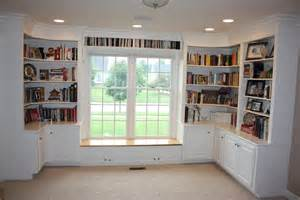 How To Build A Window Seat With Bookshelves Wrap Around Bookcases With Cabinets And A Window Seat The