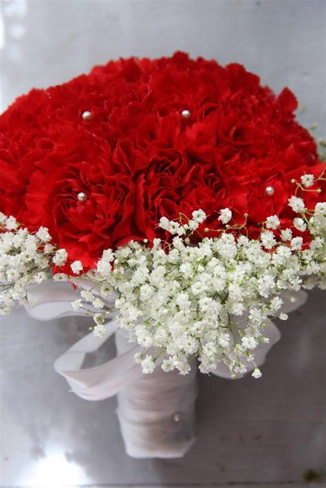 red pink carnation bouquet   Four Leaf Events: January's