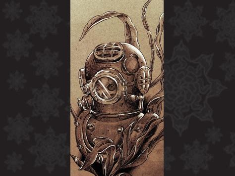 diving helmet tattoo pin by carol brozman on steunk
