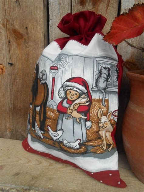 christmas sack santa sack scandinavian christmas gift bag