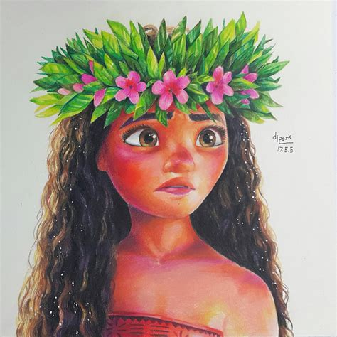 colored drawings moana fan colored pencil drawing by kr dipark on
