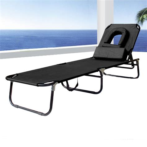 beach recliner sun bed chair beach recliner lounger pool seat with hole u