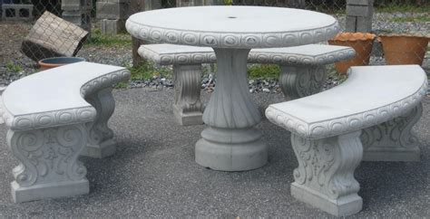 concrete table and benches round concrete table with benches ideas concrete patio