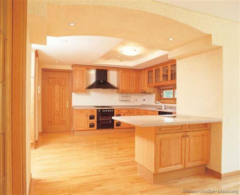 Peninsula Kitchen Cabinets by Light Wood Kitchen Designs Quicua Com