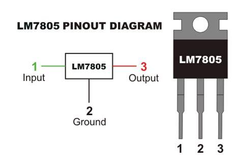 ic 7805 pin diagram voltage regulator 7805
