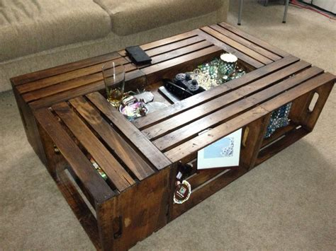 Coffee Table Crate Extended Crate Coffee Table Home Decor