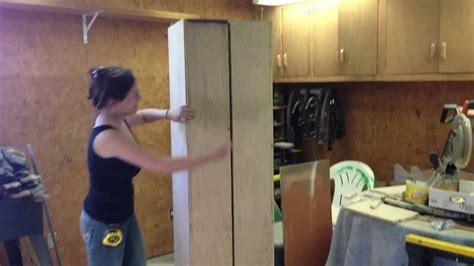 diy rolling storage cabinet youtube