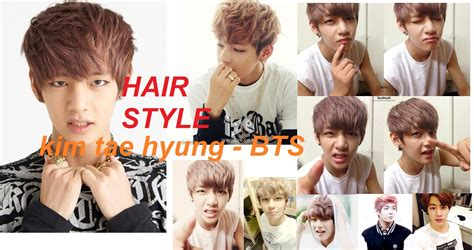 men hairr kim tae hyung kpop star bts youtube