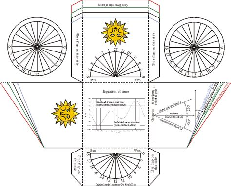 paper model of an equatorial dial