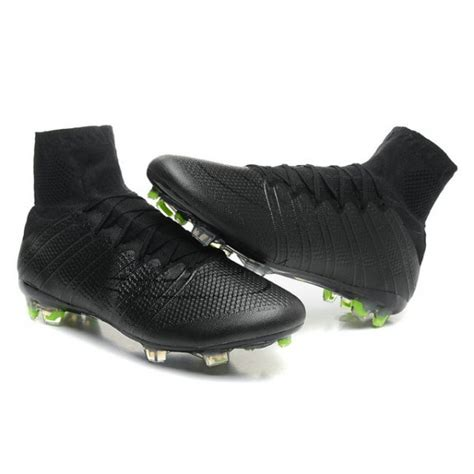 black football shoes nike mercurial superfly 4 fg top football shoes all black