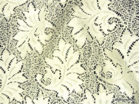 lace drapery fabric lace sheer embroidered floral leaf lace ivory curtain