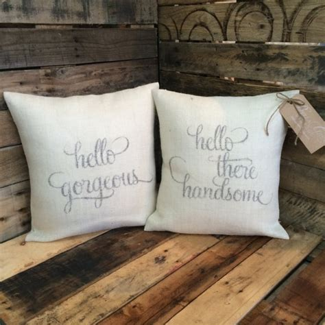 Hello There Gorgeous Pillow by Hello Gorgeous Hello There Handsome Set Of Throw Pillow